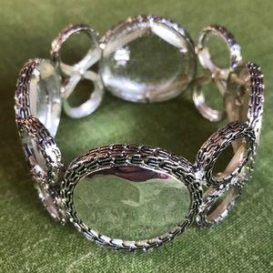 Silvertone retro jewelry bracelet